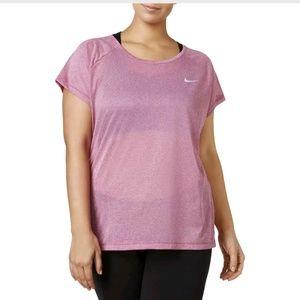 Nike Womens Breathe Purple Mesh Racerback Pullover